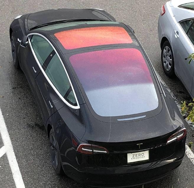 Efecto óxido techo Tesla
